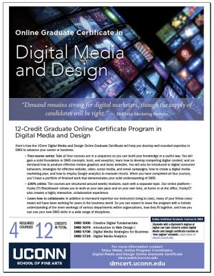 UConn Graduate Certificate in Digital Media and Design Image of PDF Fact Sheet